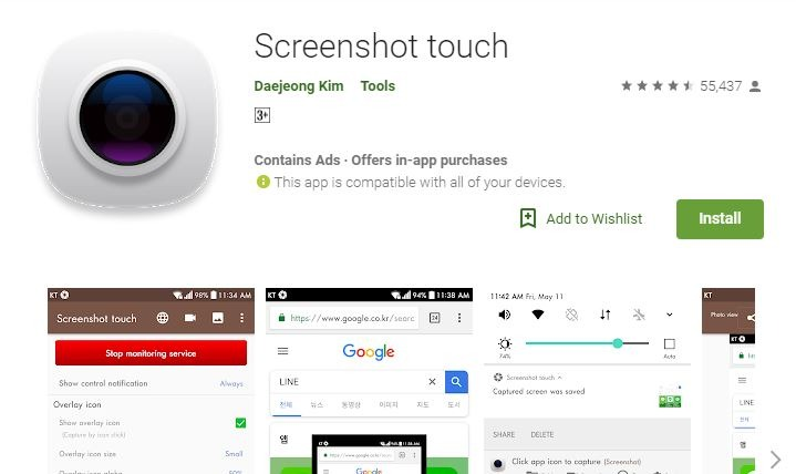 Screenshot Apps for Android