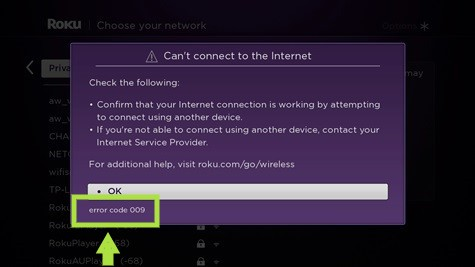 my roku won't connect to the internet