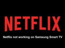 Netflix not working on Samsung Smart TV