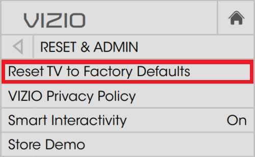 How to Factory Reset Vizio TV